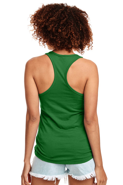 Next Level N1533 Womens Ideal Jersey Tank Top Kelly Green Back