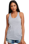 Next Level N1533 Womens Ideal Jersey Tank Top Heather Grey Front