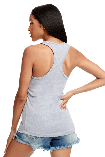 Next Level N1533 Womens Ideal Jersey Tank Top Heather Grey Back