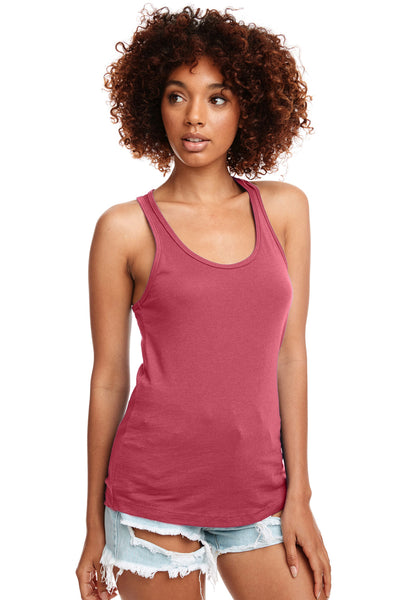 Next Level N1533 Womens Ideal Jersey Tank Top Hot Pink Front