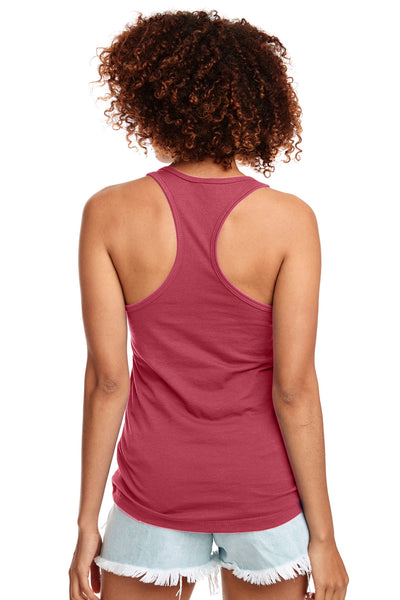 Next Level N1533 Womens Ideal Jersey Tank Top Hot Pink Back