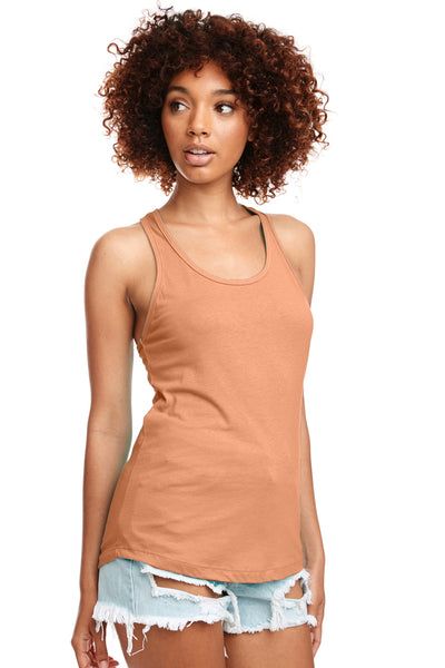 Next Level N1533 Womens Ideal Jersey Tank Top Light Orange Front