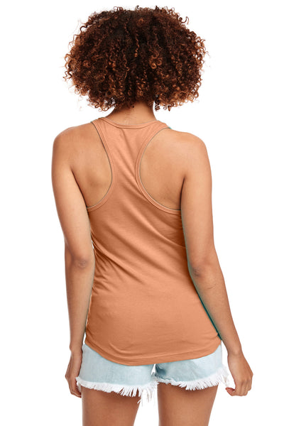 Next Level N1533 Womens Ideal Jersey Tank Top Light Orange Back