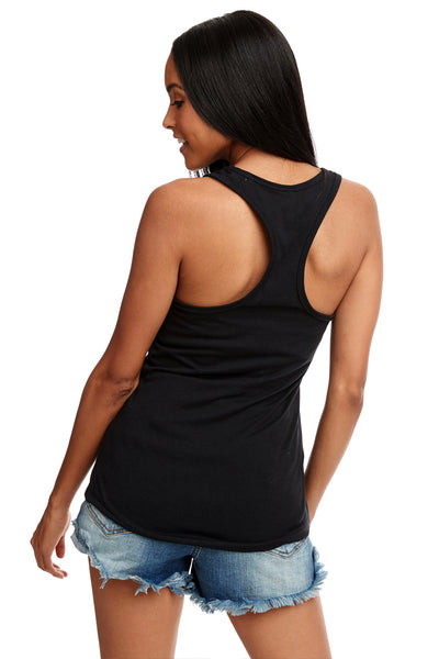 Next Level N1533 Womens Ideal Jersey Tank Top Black Back