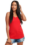 Next Level N1533 Womens Ideal Jersey Tank Top Red Front