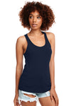 Next Level N1533 Womens Ideal Jersey Tank Top Navy Blue Front