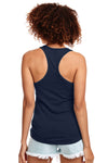 Next Level N1533 Womens Ideal Jersey Tank Top Navy Blue Back
