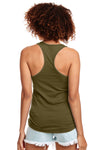 Next Level N1533 Womens Ideal Jersey Tank Top Military Green Back