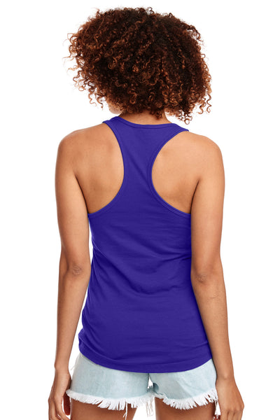 Next Level N1533 Womens Ideal Jersey Tank Top Purple Rush Back