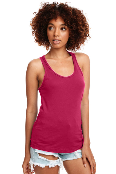 Next Level N1533 Womens Ideal Jersey Tank Top Raspberry Pink Front