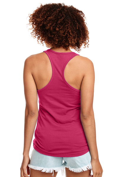 Next Level N1533 Womens Ideal Jersey Tank Top Raspberry Pink Back