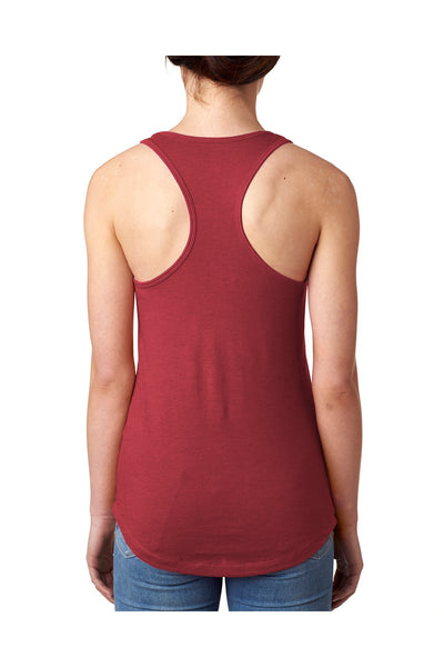 Next Level N1533 Womens Ideal Jersey Tank Top Scarlet Red Back