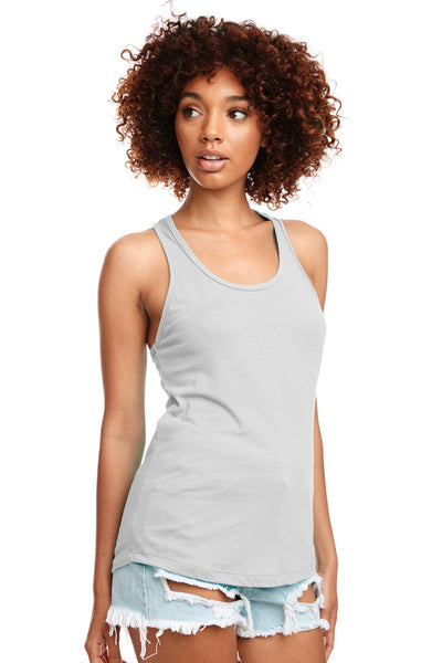 Next Level N1533 Womens Ideal Jersey Tank Top Silver Grey Front