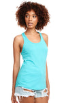 Next Level N1533 Womens Ideal Jersey Tank Top Tahiti Blue Front