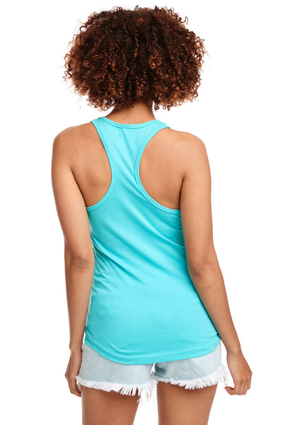 Next Level N1533 Womens Ideal Jersey Tank Top Tahiti Blue Back