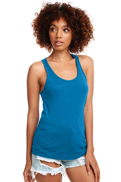 Next Level N1533 Womens Ideal Jersey Tank Top Turquoise Blue Front