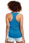 Next Level N1533 Womens Ideal Jersey Tank Top Turquoise Blue Back