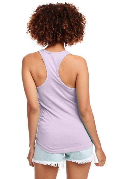 Next Level N1533 Womens Ideal Jersey Tank Top Lilac Pink Back