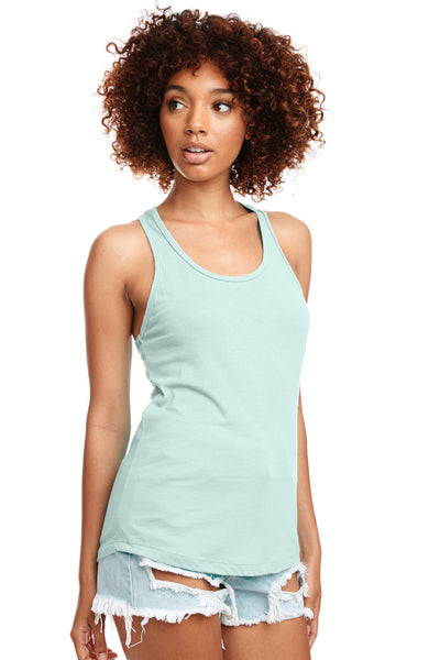 Next Level N1533 Womens Ideal Jersey Tank Top Mint Green Front