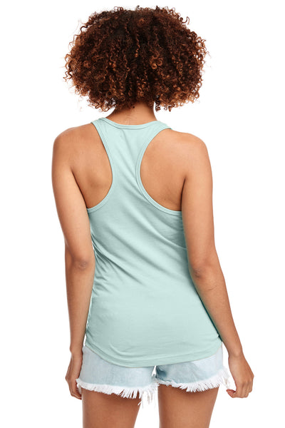 Next Level N1533 Womens Ideal Jersey Tank Top Mint Green Back