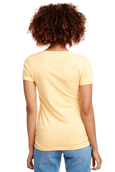 Next Level N1540 Womens Ideal Jersey Short Sleeve V-Neck T-Shirt Yellow Back