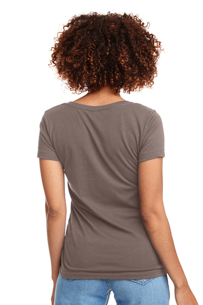 Next Level N1540 Womens Ideal Jersey Short Sleeve V-Neck T-Shirt Warm Grey Back