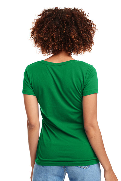 Next Level N1540 Womens Ideal Jersey Short Sleeve V-Neck T-Shirt Kelly Green Back