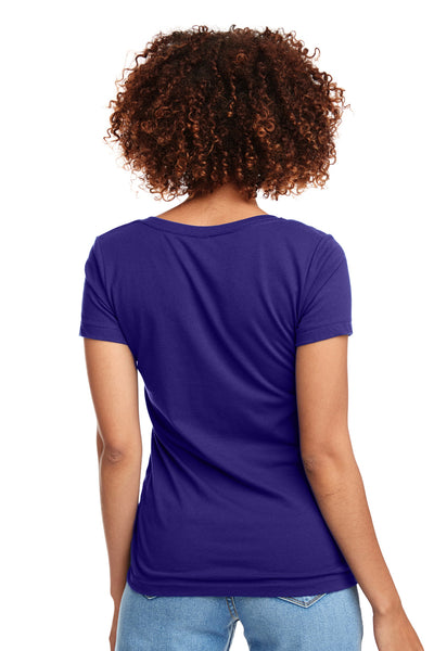 Next Level N1540 Womens Ideal Jersey Short Sleeve V-Neck T-Shirt Purple Rush Back