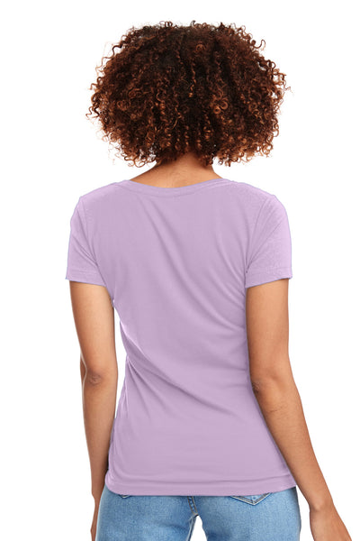 Next Level N1540 Womens Ideal Jersey Short Sleeve V-Neck T-Shirt Lilac Pink Back