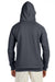Hanes N270 Mens Nano Fleece Hooded Sweatshirt Hoodie Heather Charcoal Grey Back