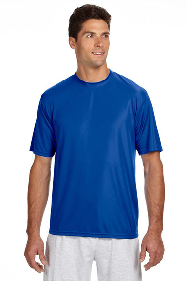A4 N3142 Mens Cooling Performance Moisture Wicking Short Sleeve Crewneck T-Shirt Royal Blue Front