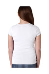 Next Level N3710 Youth Princess Fine Jersey Short Sleeve Crewneck T-Shirt White Back