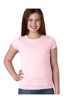 Next Level N3710 Youth Princess Fine Jersey Short Sleeve Crewneck T-Shirt Light Pink Front