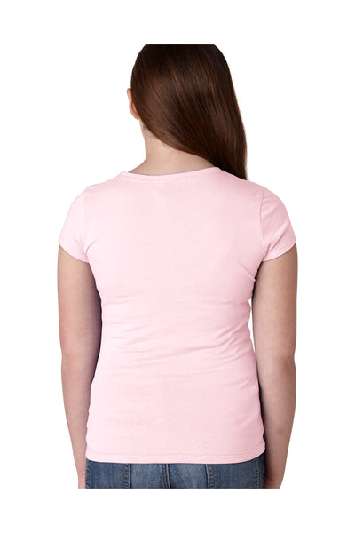 Next Level N3710 Youth Princess Fine Jersey Short Sleeve Crewneck T-Shirt Light Pink Back