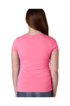 Next Level N3710 Youth Princess Fine Jersey Short Sleeve Crewneck T-Shirt Hot Pink Back
