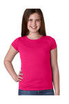Next Level N3710 Youth Princess Fine Jersey Short Sleeve Crewneck T-Shirt Raspberry Pink Front