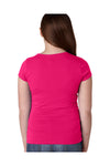 Next Level N3710 Youth Princess Fine Jersey Short Sleeve Crewneck T-Shirt Raspberry Pink Back