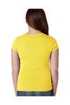 Next Level N3710 Youth Princess Fine Jersey Short Sleeve Crewneck T-Shirt Vibrant Yellow Back