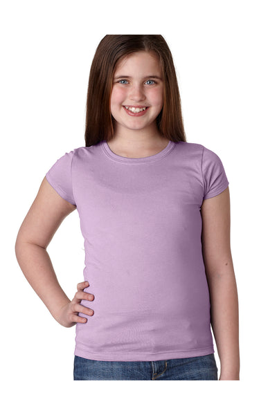 Next Level N3710 Youth Princess Fine Jersey Short Sleeve Crewneck T-Shirt Lilac Pink Front