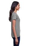 Next Level N4240 Womens Eco Performance Moisture Wicking Short Sleeve V-Neck T-Shirt Heather Dark Grey Side