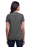 Next Level N4240 Womens Eco Performance Moisture Wicking Short Sleeve V-Neck T-Shirt Heavy Metal Grey Back