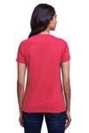 Next Level N4240 Womens Eco Performance Moisture Wicking Short Sleeve V-Neck T-Shirt Heather Red Back