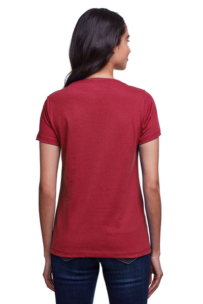 Next Level N4240 Womens Eco Performance Moisture Wicking Short Sleeve V-Neck T-Shirt Cardinal Red Back