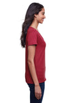 Next Level N4240 Womens Eco Performance Moisture Wicking Short Sleeve V-Neck T-Shirt Cardinal Red Side