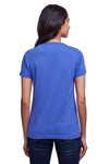 Next Level N4240 Womens Eco Performance Moisture Wicking Short Sleeve V-Neck T-Shirt Heather Sapphire Blue Back