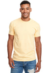 Next Level N6210 Mens CVC Jersey Short Sleeve Crewneck T-Shirt Yellow Front