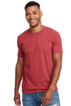 Next Level N6210 Mens CVC Jersey Short Sleeve Crewneck T-Shirt Cardinal Red Front