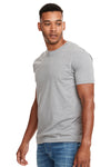 Next Level N6210 Mens CVC Jersey Short Sleeve Crewneck T-Shirt Heather Dark Grey Front