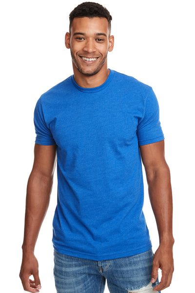 Next Level N6210 Mens CVC Jersey Short Sleeve Crewneck T-Shirt Turquoise Blue Front