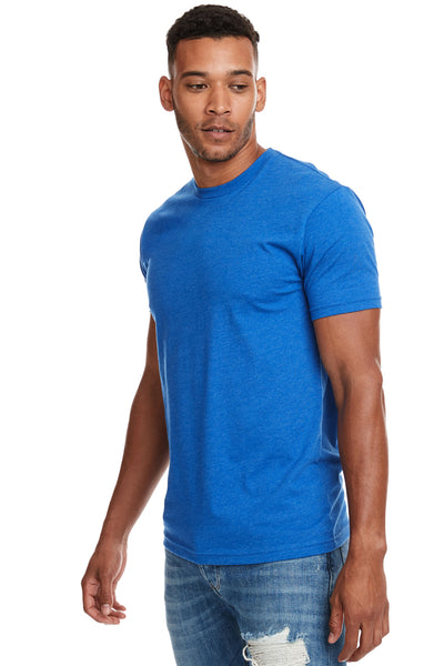 Next Level N6210 Mens CVC Jersey Short Sleeve Crewneck T-Shirt Turquoise Blue Side